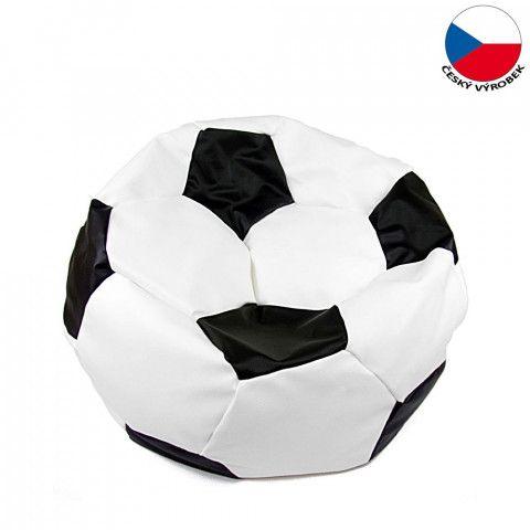 Sedací vak Mudok - Fotbalový mič bílo-černý