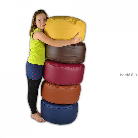 Taburet - podnožka ke křeslu - bordó