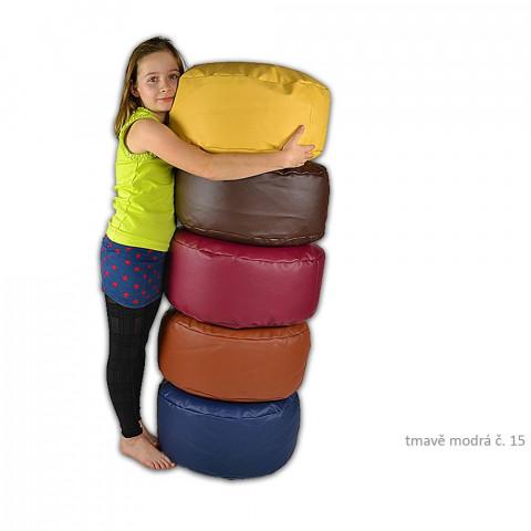 Taburet - podnožka ke křeslu - tmavě modrý