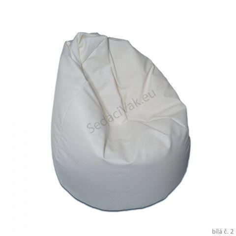 Sedací vak - Hruška Komfort - bílá