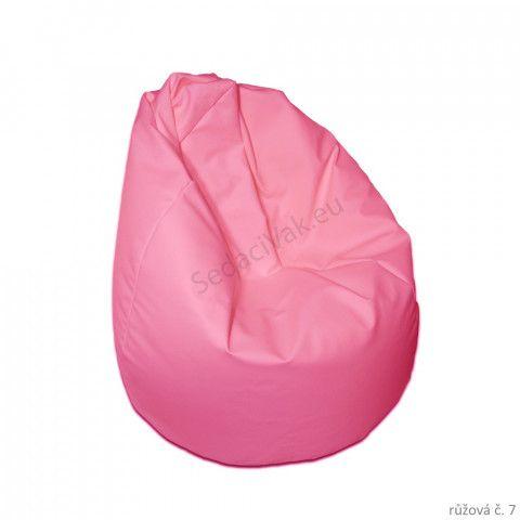 Sedací vak - Hruška Komfort - růžová