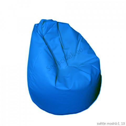 Sedací vak - Hruška Komfort - světle modrá