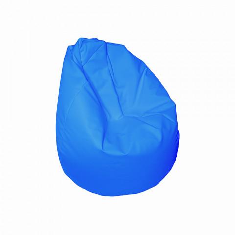 Sedací vak - Hruška pro děti - světle modrý